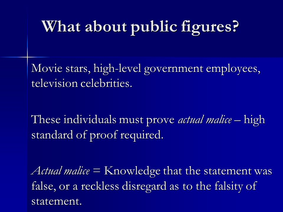 What about public figures