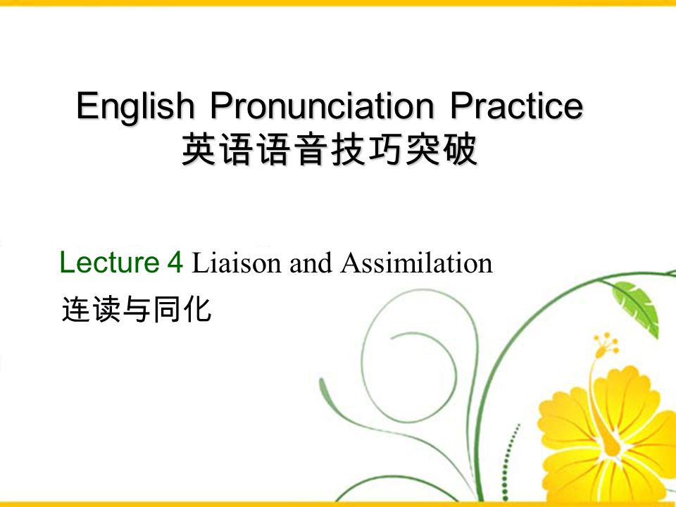 English Pronunciation Practice 英语语音技巧突破