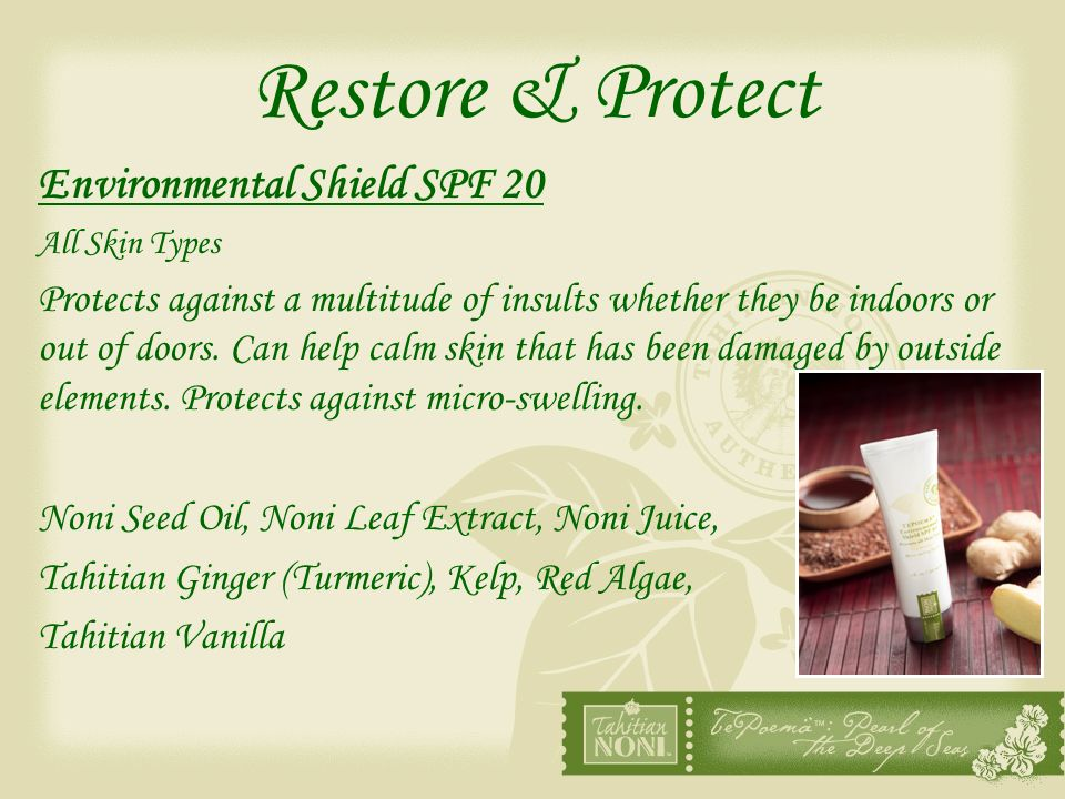 Restore & Protect Environmental Shield SPF 20