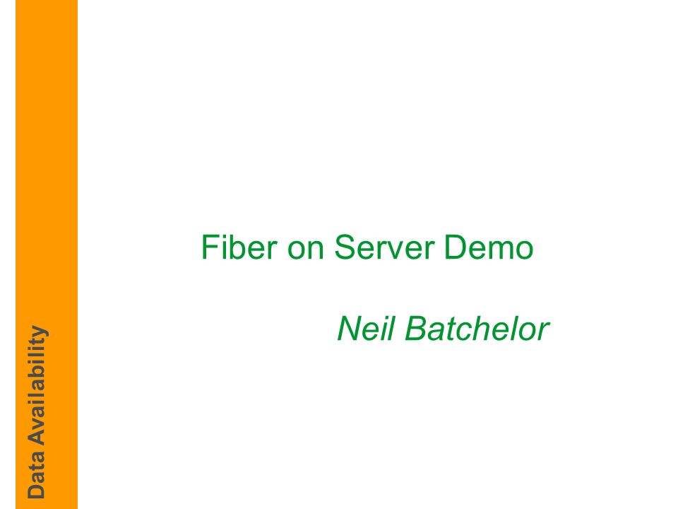 Fiber on Server Demo Neil Batchelor