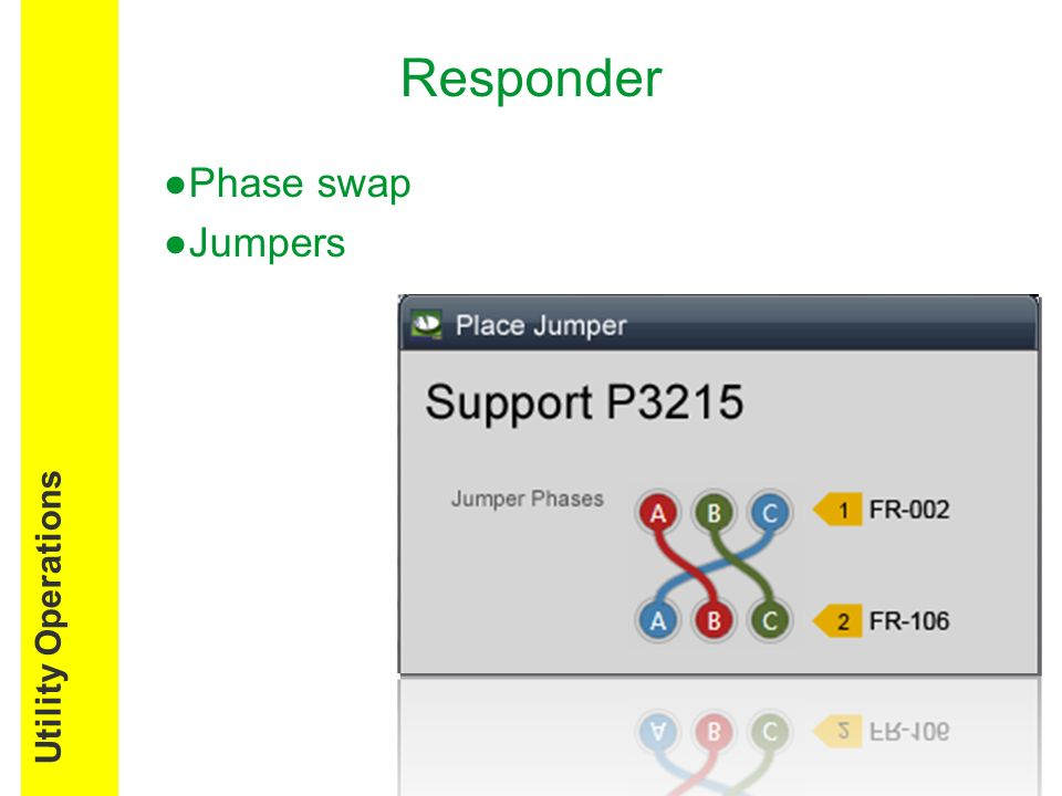 Responder Phase swap Jumpers Utility Operations
