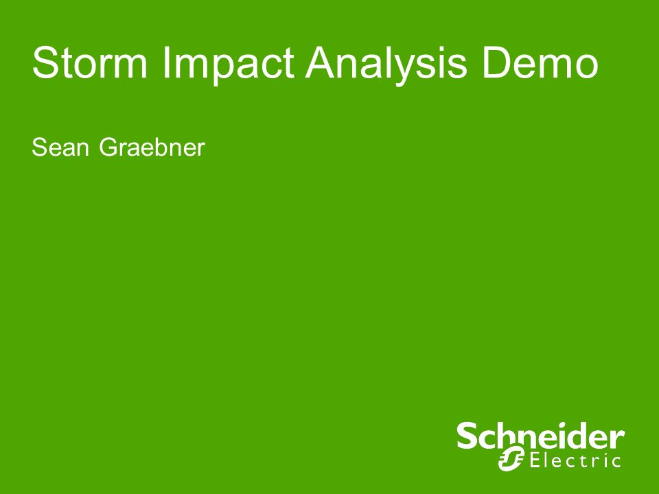 Storm Impact Analysis Demo