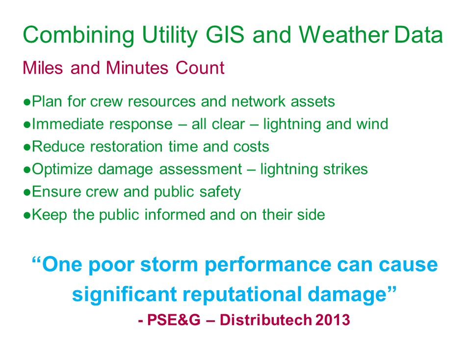 Combining Utility GIS and Weather Data