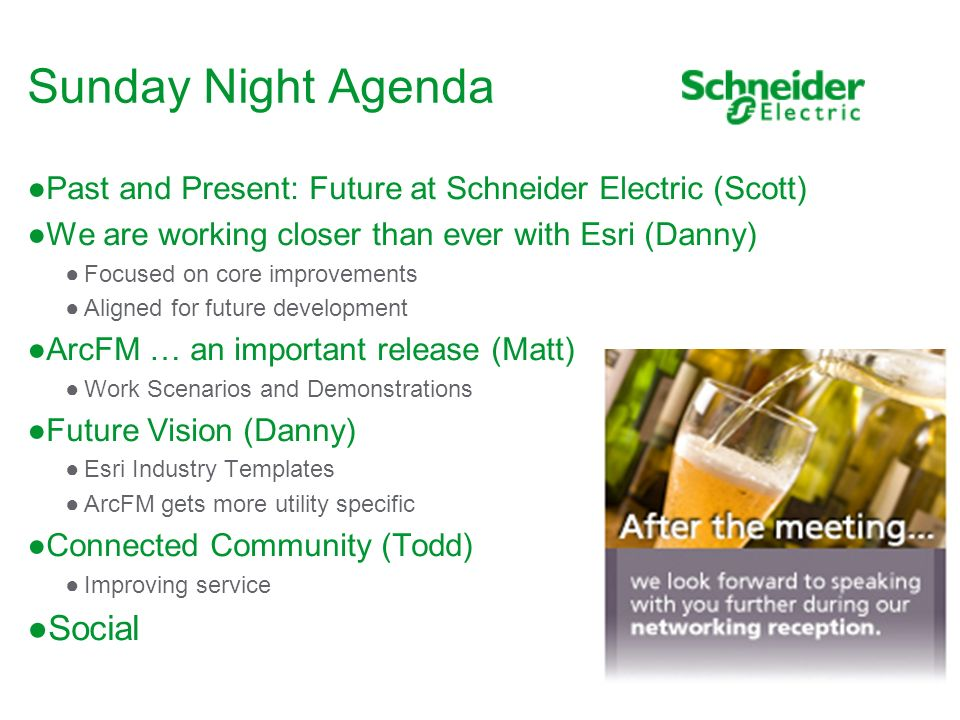 Sunday Night Agenda Social