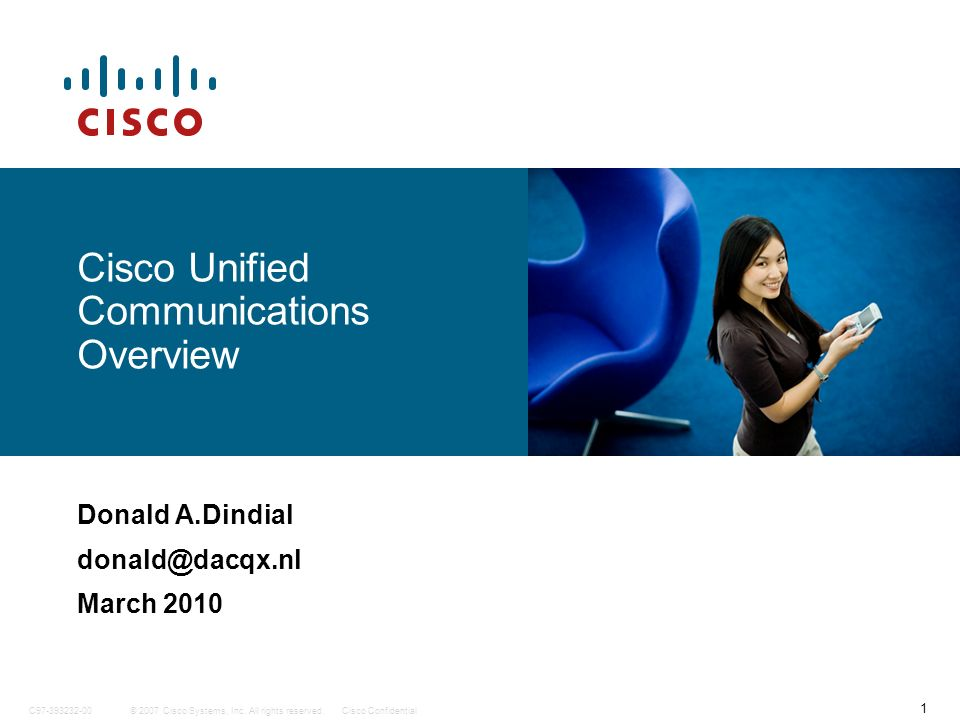 Cisco Unified Communications Overview