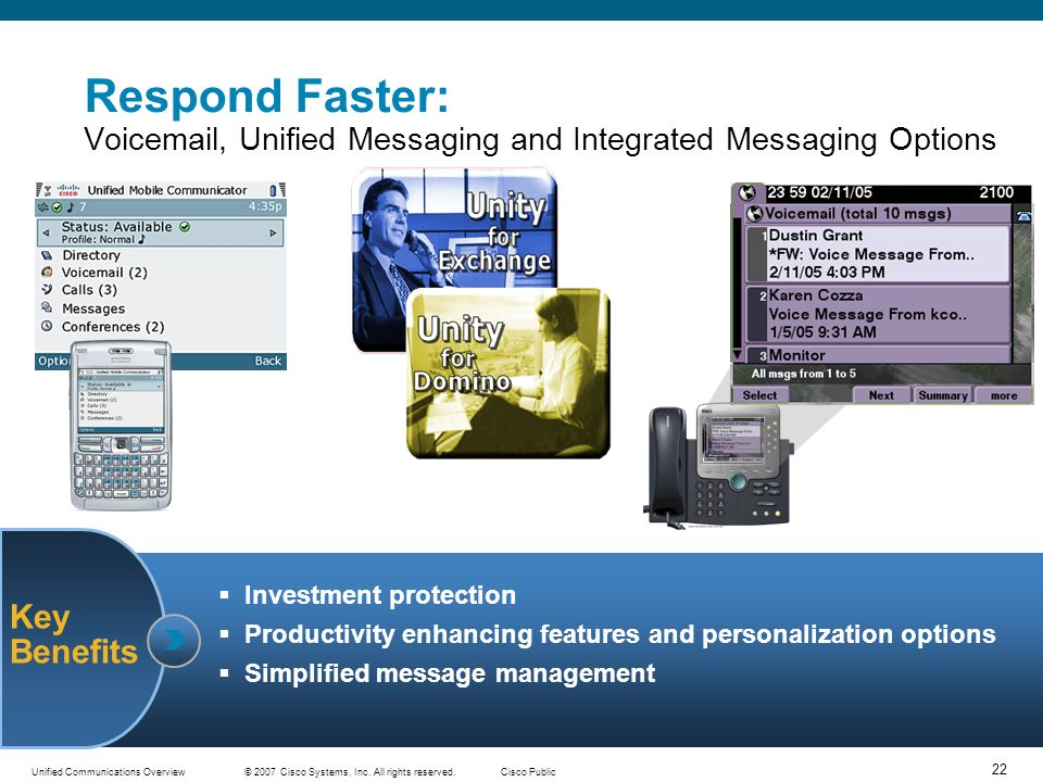Respond Faster: Voicemail, Unified Messaging and Integrated Messaging Options