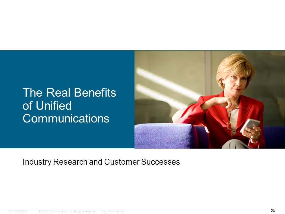 The Real Benefits of Unified Communications