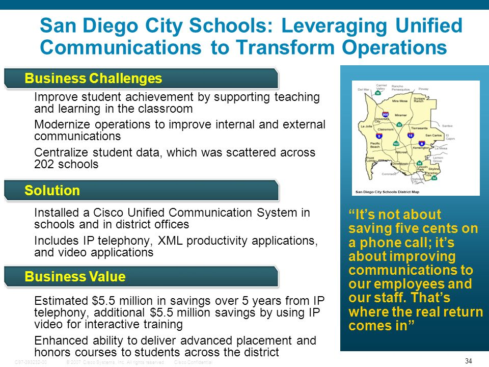 San Diego City Schools: Leveraging Unified Communications to Transform Operations