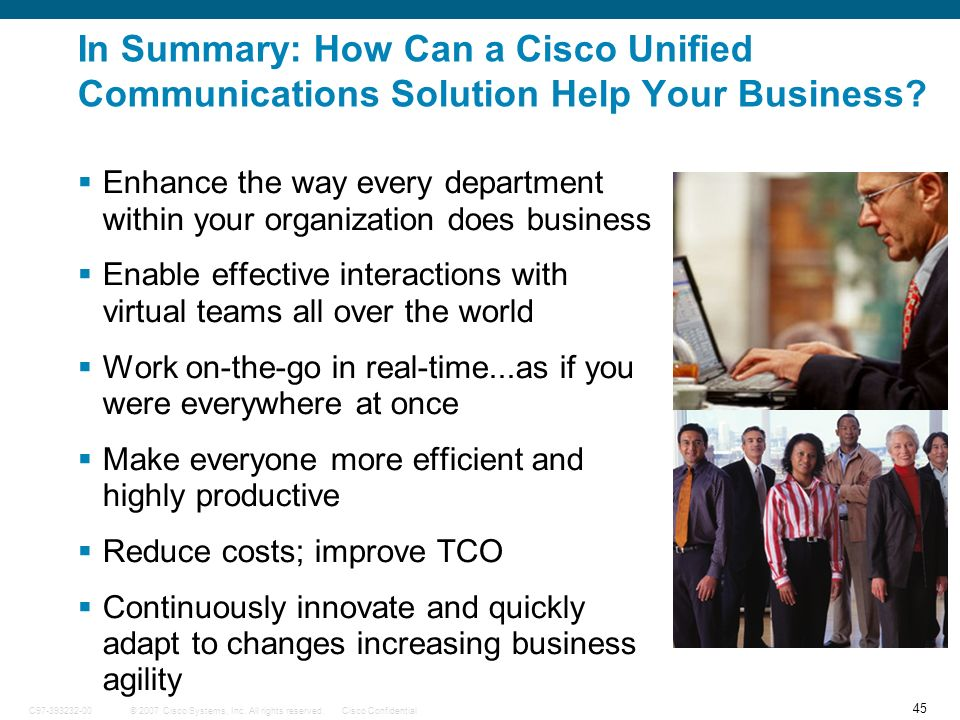 In Summary: How Can a Cisco Unified Communications Solution Help Your Business