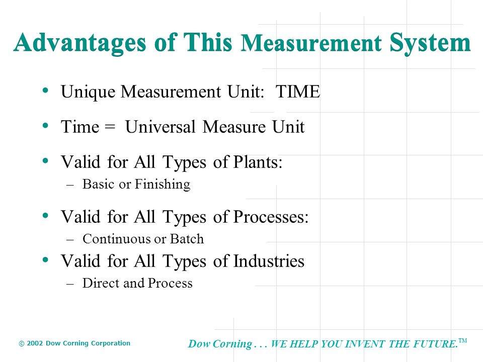 Advantages of This Measurement System