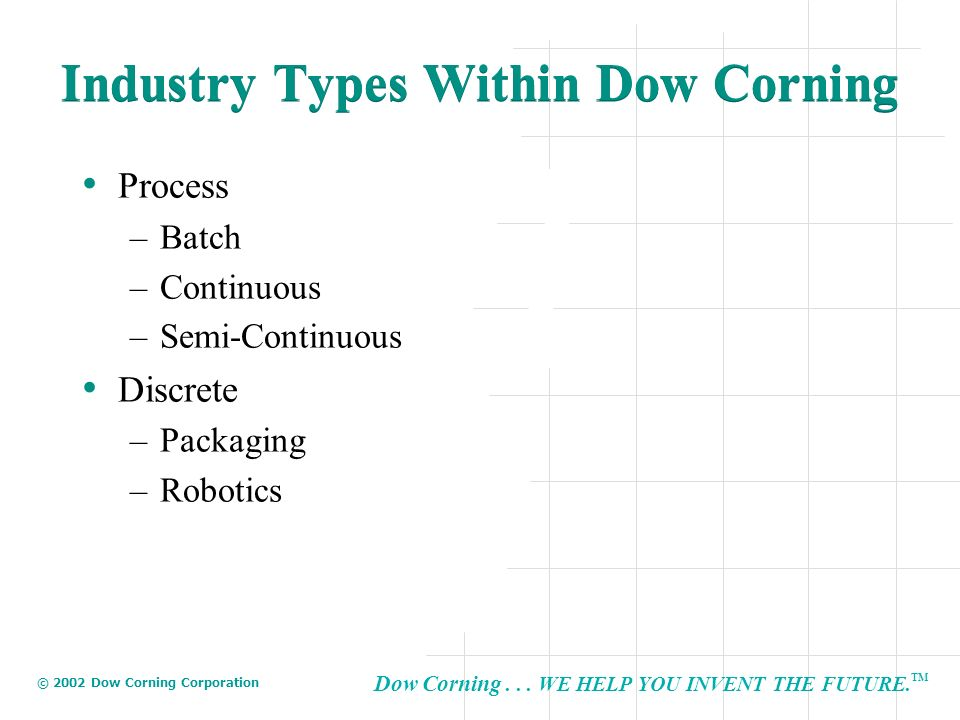 Industry Types Within Dow Corning