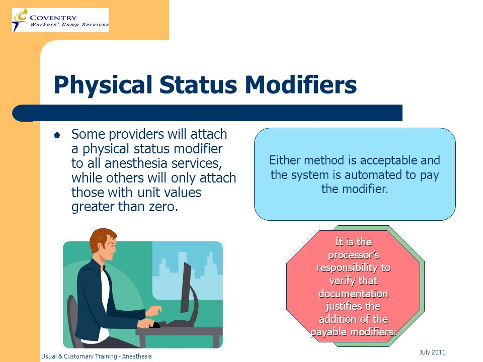 Physical Status Modifiers