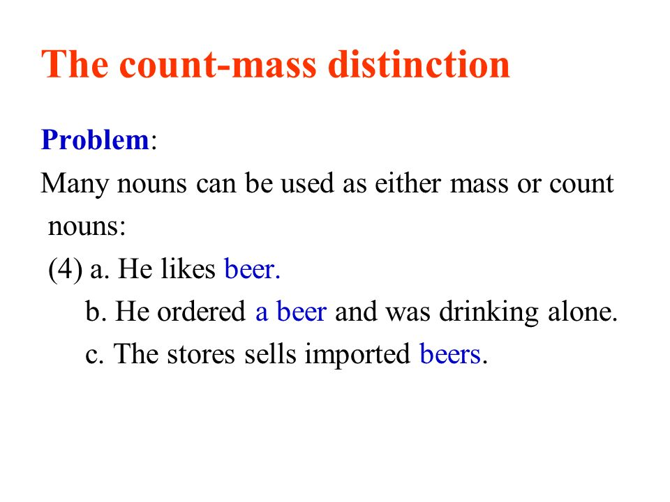The count-mass distinction