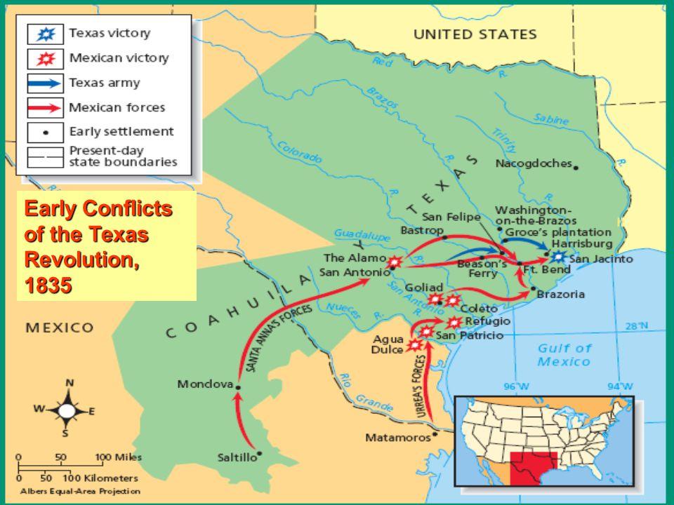 Map Of Texas Revolution.Notes Texas Revolution Ppt Video Online Download