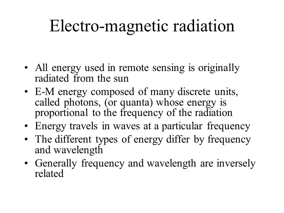 Electro-magnetic radiation