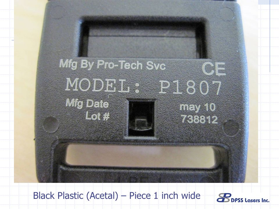 Black Plastic (Acetal) – Piece 1 inch wide