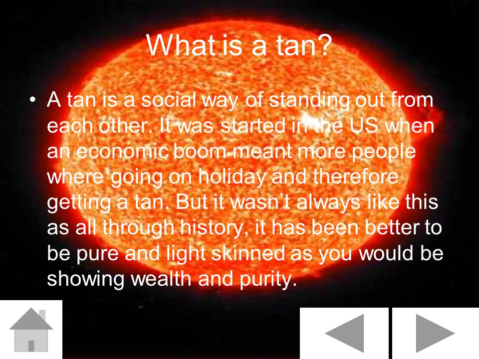 What is a tan