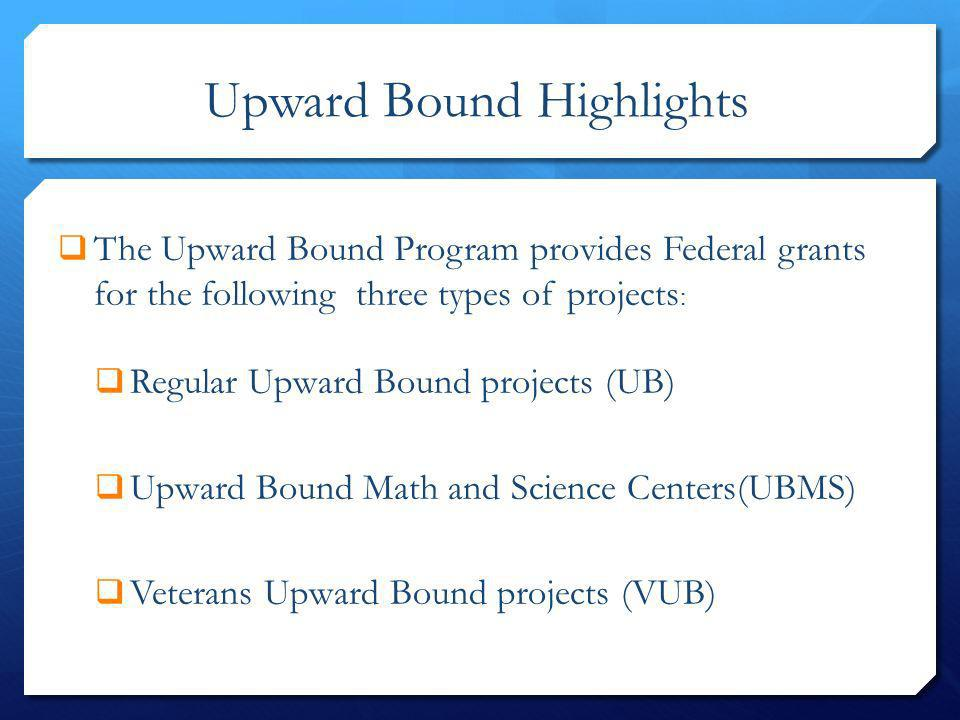 Upward Bound Highlights