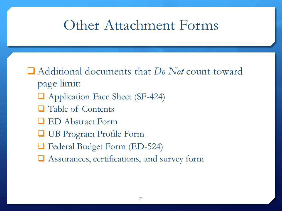 Other Attachment Forms