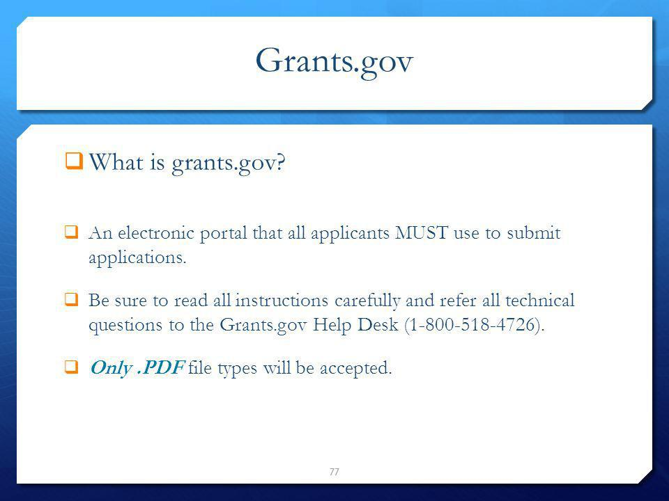Grants.gov What is grants.gov