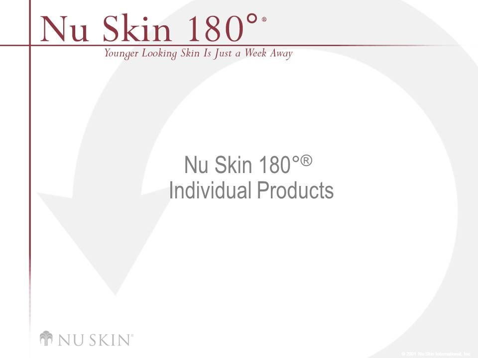 Nu Skin 180°® Individual Products