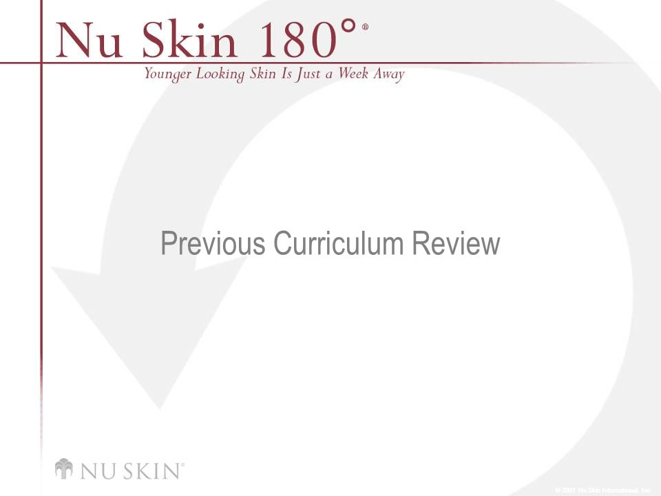Previous Curriculum Review