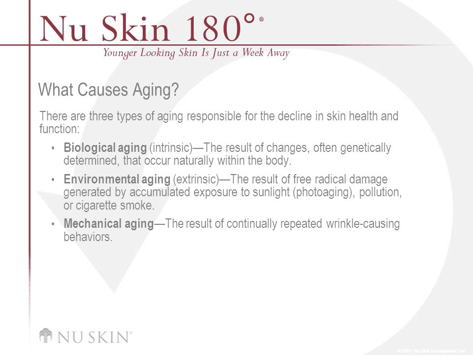 What Causes Aging There are three types of aging responsible for the decline in skin health and function: