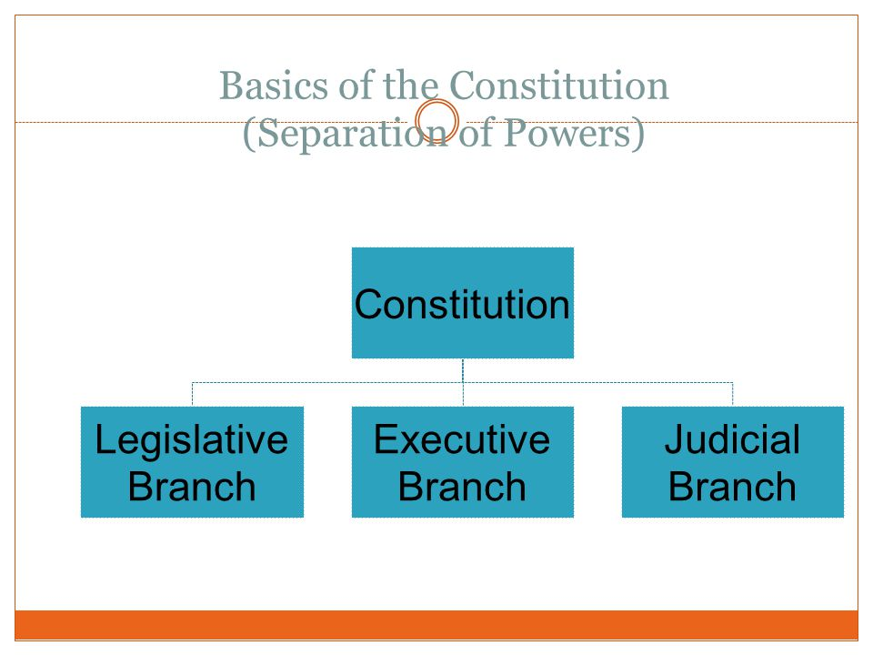 Basics of the Constitution (Separation of Powers)