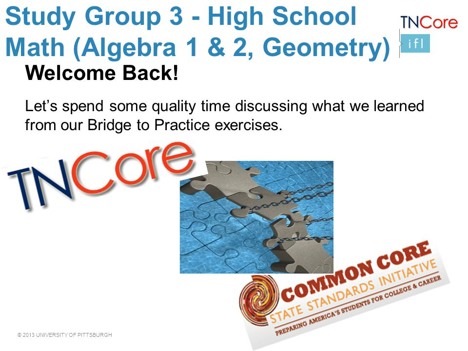 Study Group 3 - High School Math (Algebra 1 & 2, Geometry) - ppt ...