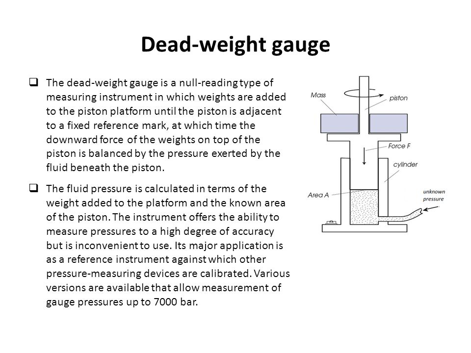 Pressure measurement class ppt video online download dead weight gauge ccuart Image collections