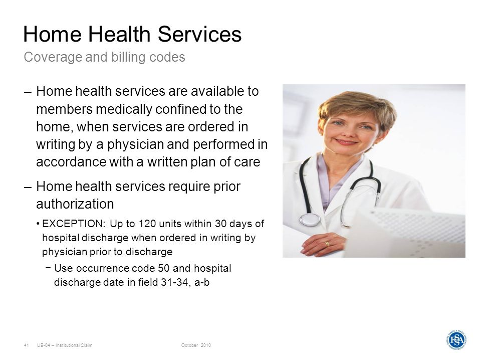 Home Health Services Coverage and billing codes