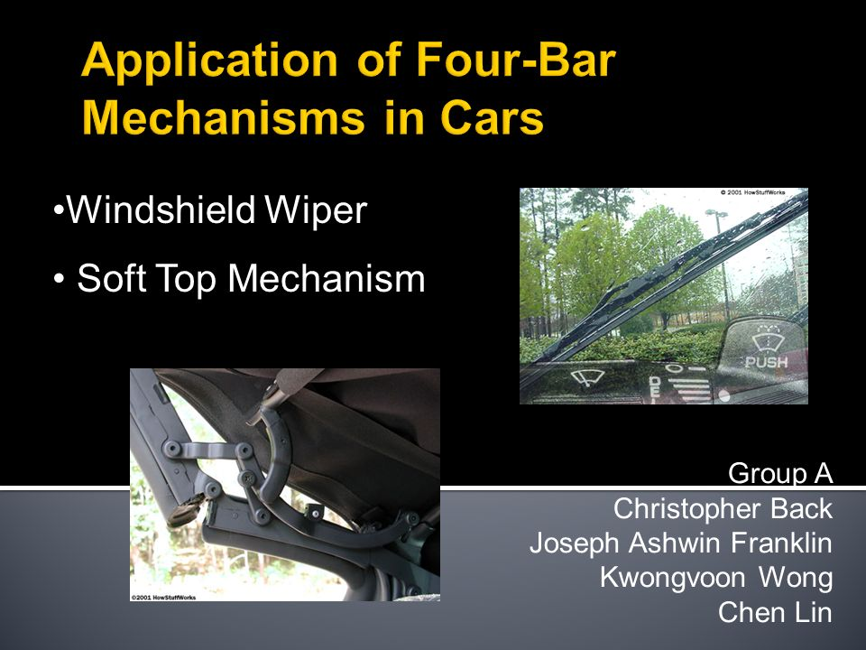 Application of Four-Bar Mechanisms in Cars