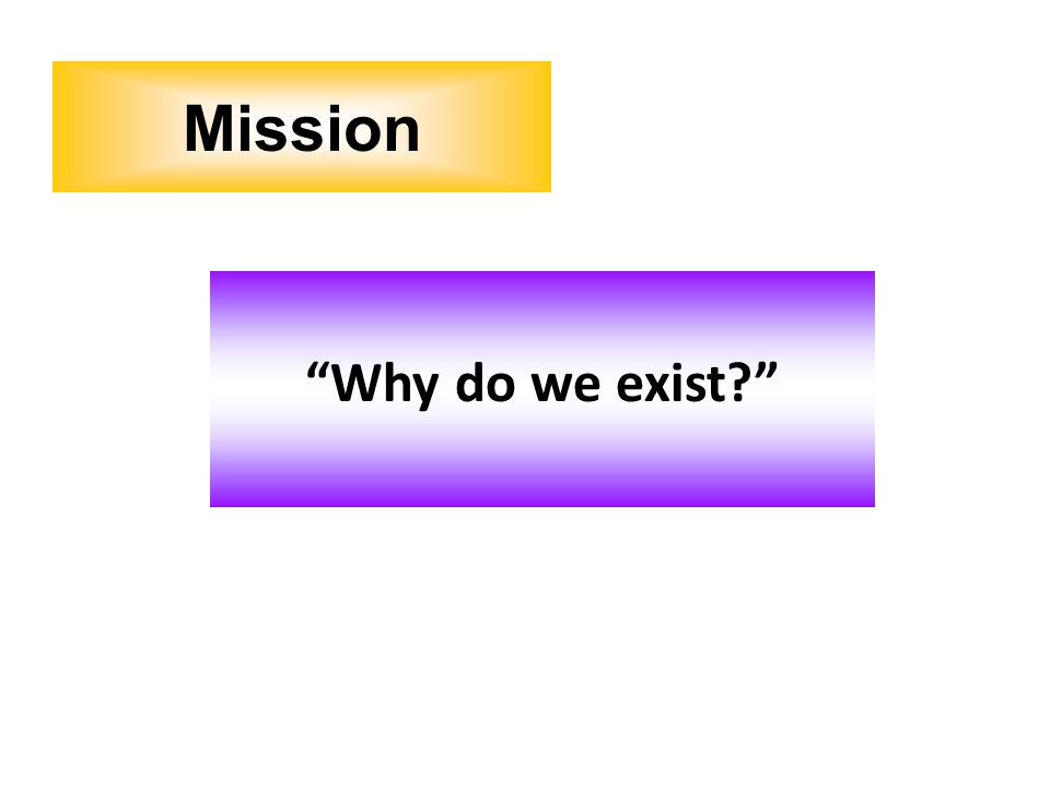 Mission Why do we exist