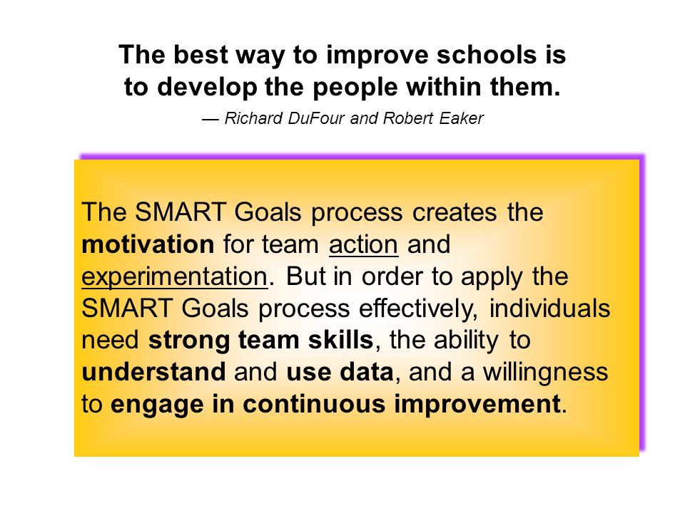 The best way to improve schools is to develop the people within them