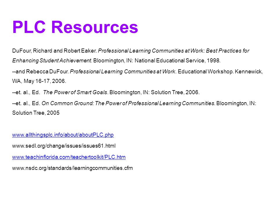 PLC Resources