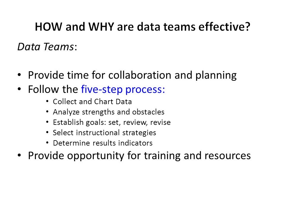 HOW and WHY are data teams effective