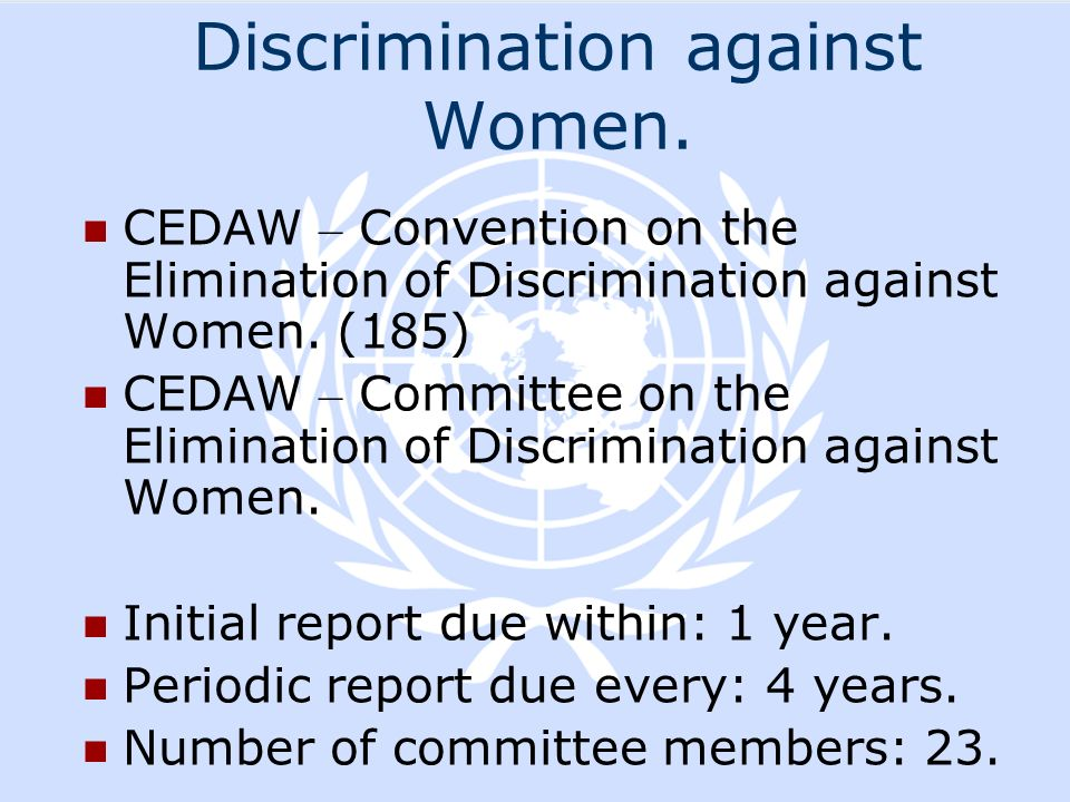 Discrimination against Women.