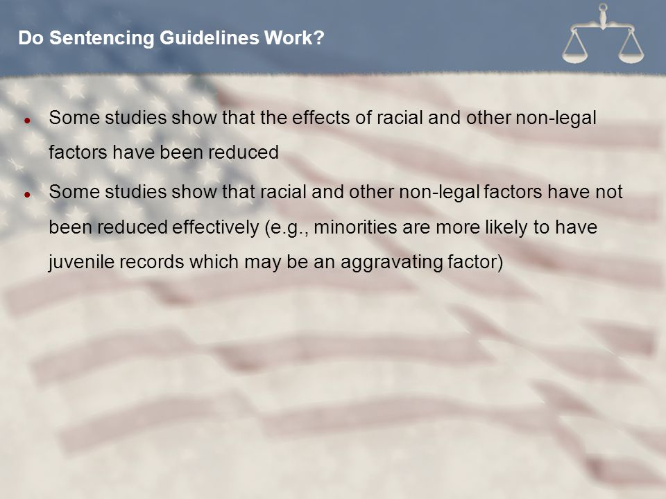 Do Sentencing Guidelines Work
