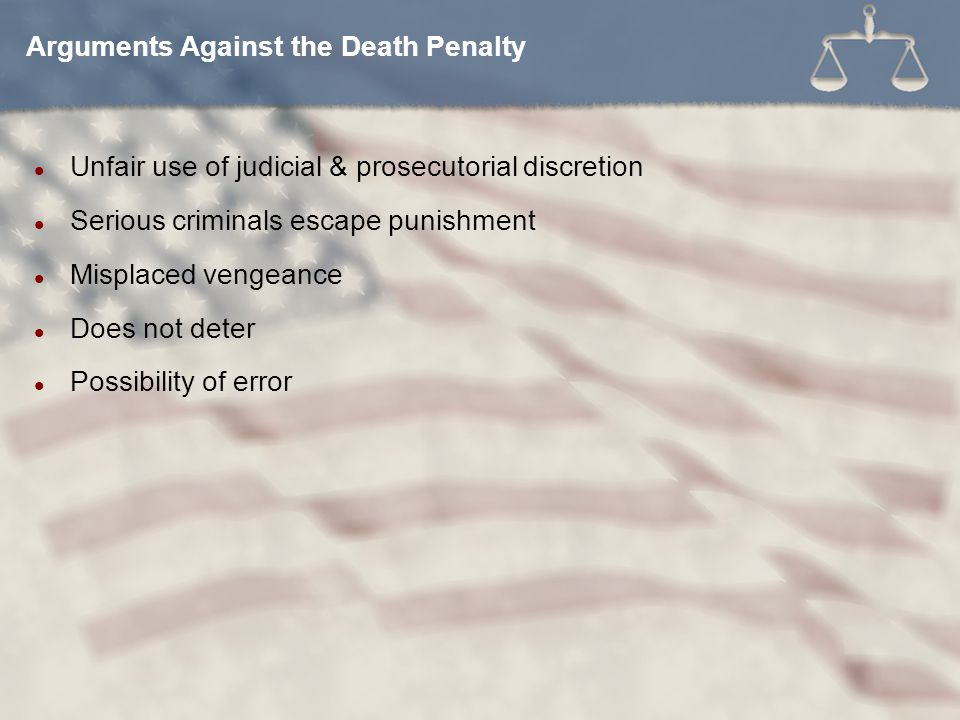 Arguments Against the Death Penalty