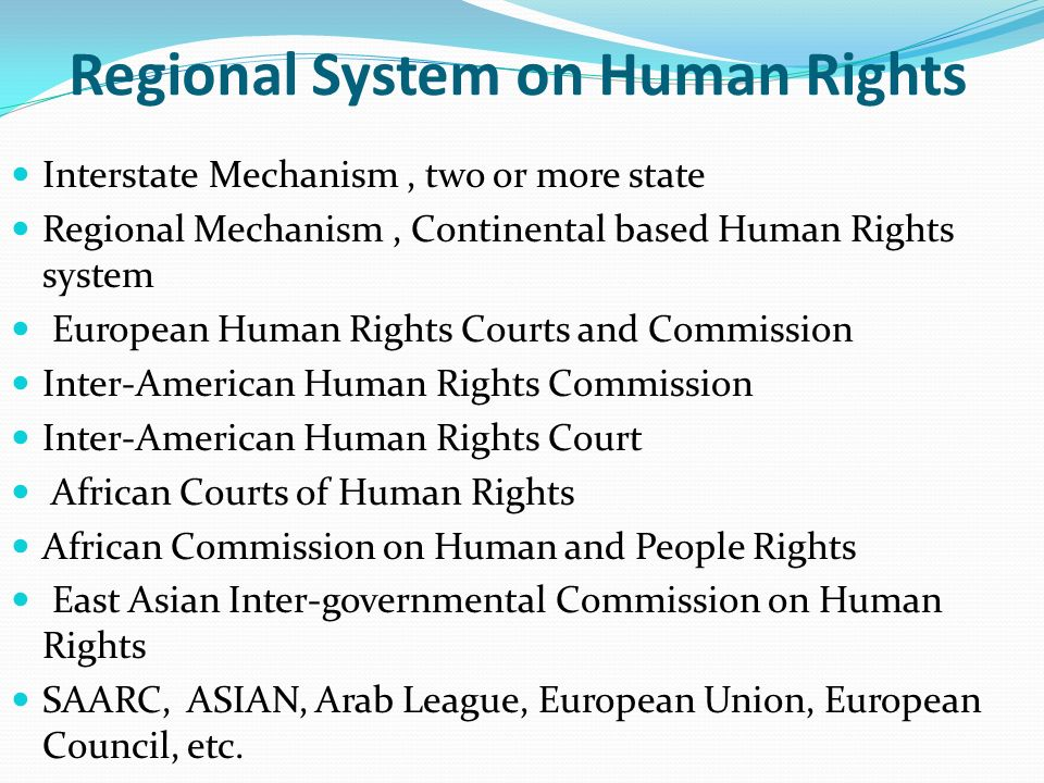 Regional System on Human Rights