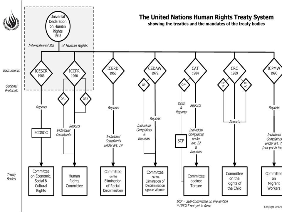 Seven Core International Human Rights Treaties: