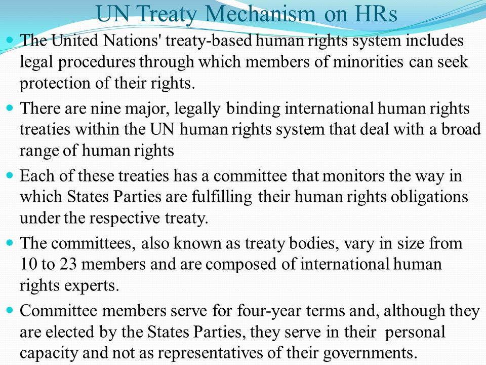 UN Treaty Mechanism on HRs
