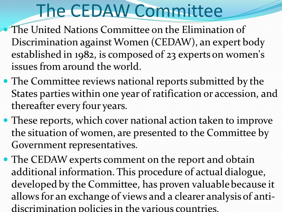 The CEDAW Committee