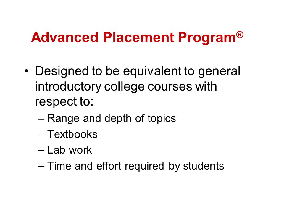 Advanced Placement Program®