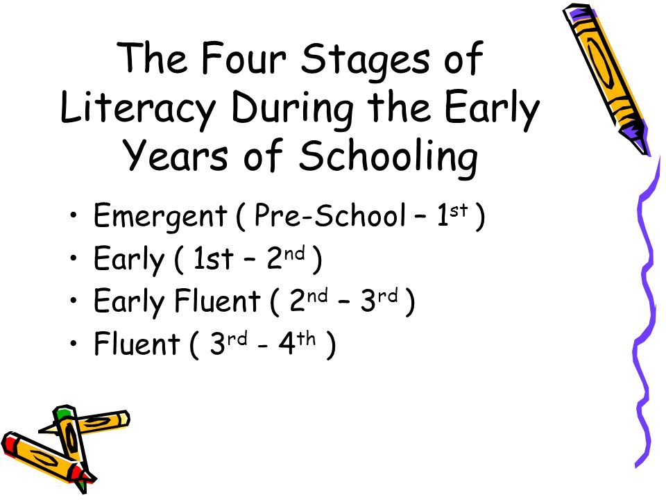 The Four Stages of Literacy During the Early Years of Schooling