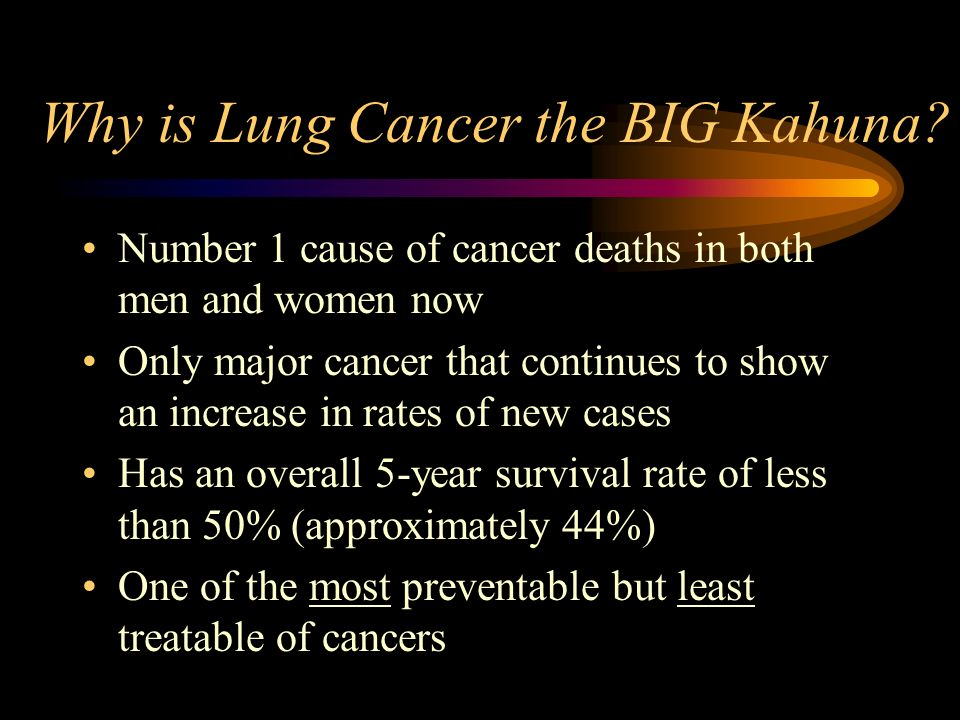 Why is Lung Cancer the BIG Kahuna