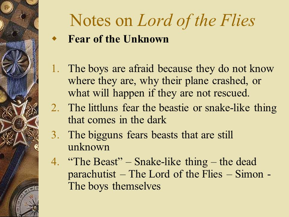 fear in lord of the flies