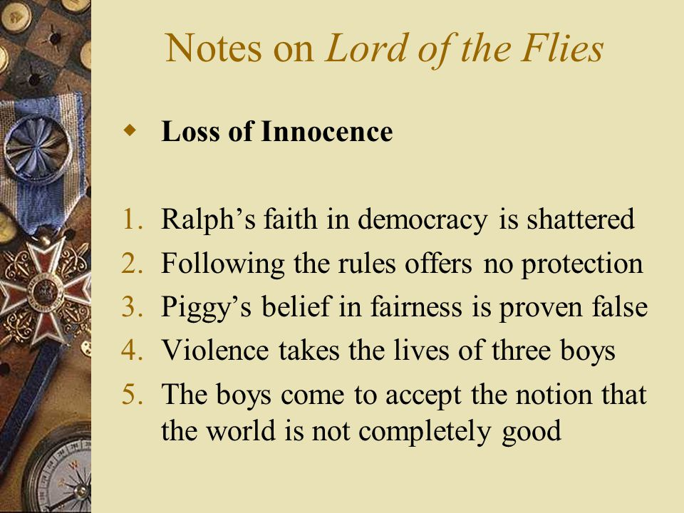 lord of the flies innocence