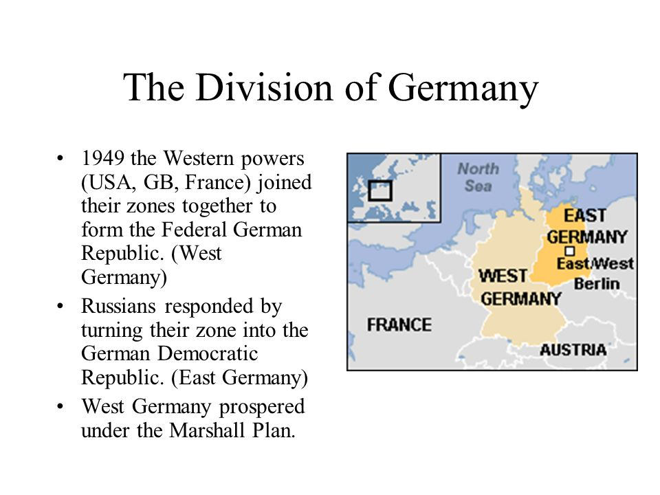 The Division of Germany