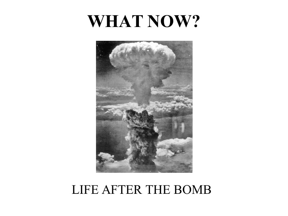 WHAT NOW LIFE AFTER THE BOMB